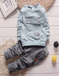 Baby-boys-solid-clothing-set-of-children-s-sports-jacket-sports-wear-girls-clothes-T-shirt