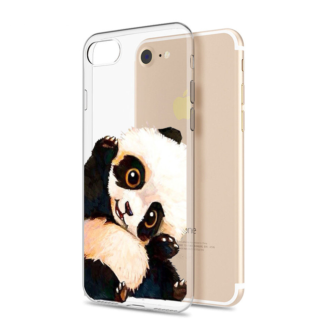 Wonderful Panda Chubby Adorable Dog - Flamingos-Coque-For-iPhone-7-Cute-Dog-Panda-Black-Butterfly-Cat-Silicone-Kitten-Phone-Cases-Funny  HD_917052  .jpg