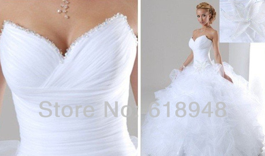 In stock cheap 2014 free shipping hot sale sweetheart for In stock wedding dresses