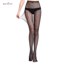 Fishnet Stocking Pantyhose Mature Woman Wild Sexy Hot Vertical Strips Role Play Uniform Stretchy Nylons Addicted