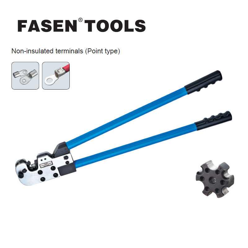 FASEN TOOLS CT-80 copper tube terminal crimping tool for non-insulated terminals 8-80mm 8-3/0AWG big size crimping tools crimping tools copper nose terminal crimping wire cable for 10 3 awg 6 25mm2 for 20a to 80a terminals