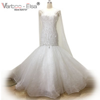 VARBOO ELSA High Quality Crystal Beading Wedding Dresses Luxury Mermaid Wedding Gowns Elegant Dubai Bridal Gowns