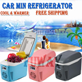 DHL Free Shipping!!! Car Mini Fridge 7.5L ABS Mini Car Refrigerator Cooling And Warming Multi-Function Portable Car Freezer