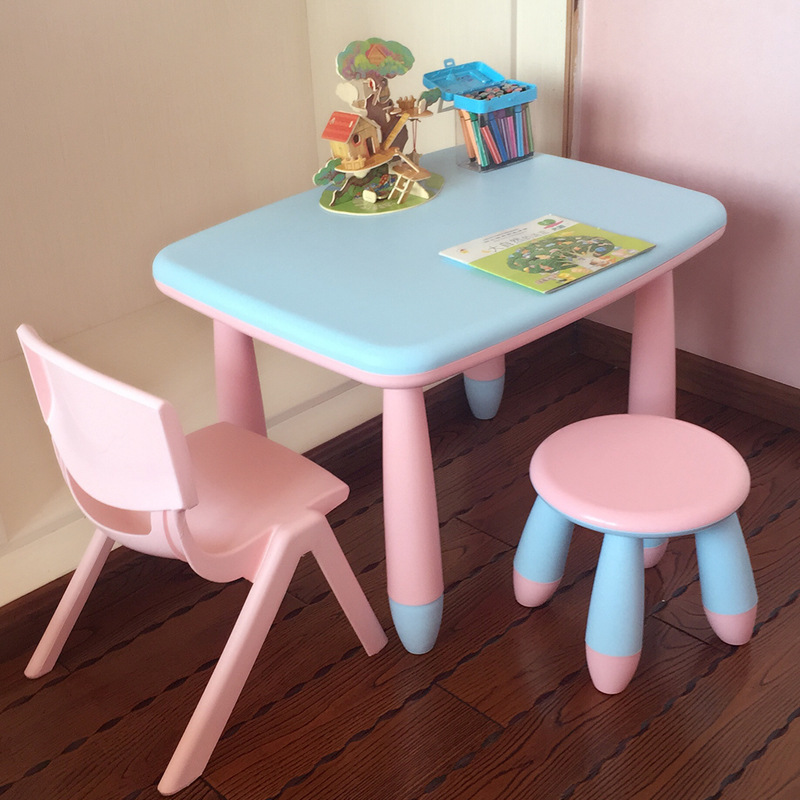 Children's Desks Chair Plastics Toys Games Tables Small Children's Tables Rectangular Table Study Table Lovely