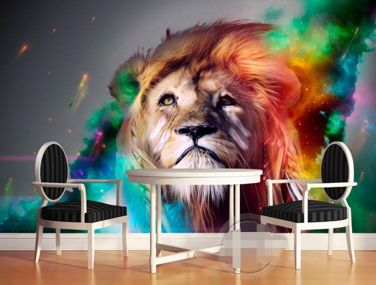 3d Room Wallpaper Custom Mural Non Woven Modern Abstract Mural Colorful Lion Paintings Murals Photo 3d Wall Mural Wallpaper Painting Dealer Painting Zebrapainting Sayings Aliexpress
