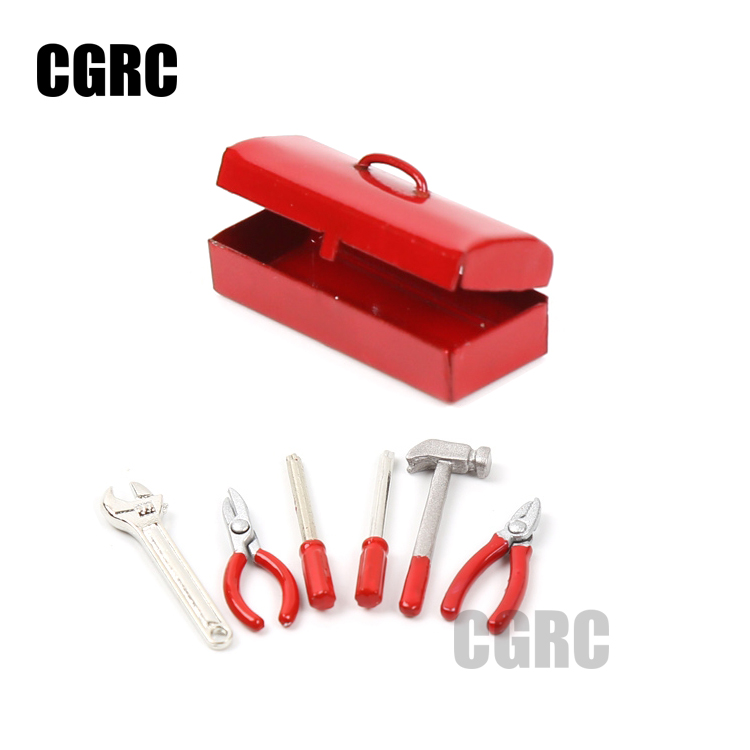 font b RC b font Crawler 1 10 Accessories Mini Hammer Wrench Tools Box for
