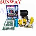 Набор игровых автоматов DIY для игры в казино Марио/полный комплект для игры Марио/набор игровых автоматов для азартных игр с акрилом и прово...
