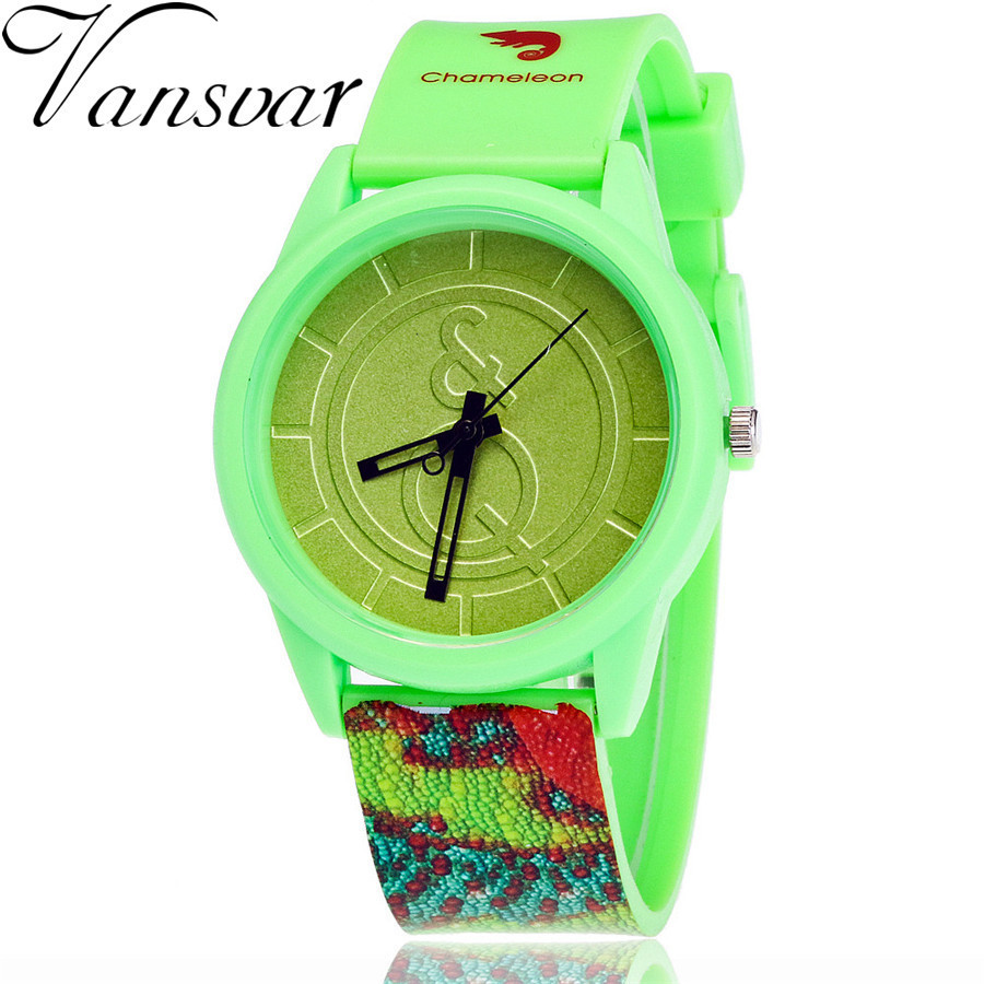 New Colorful Fashion Creative Animal Pattern Watch Women Jelly Silicone Analog Quartz Wristwatches Relojes Mujer Drop Shipping crew neck colorful animal pattern tee
