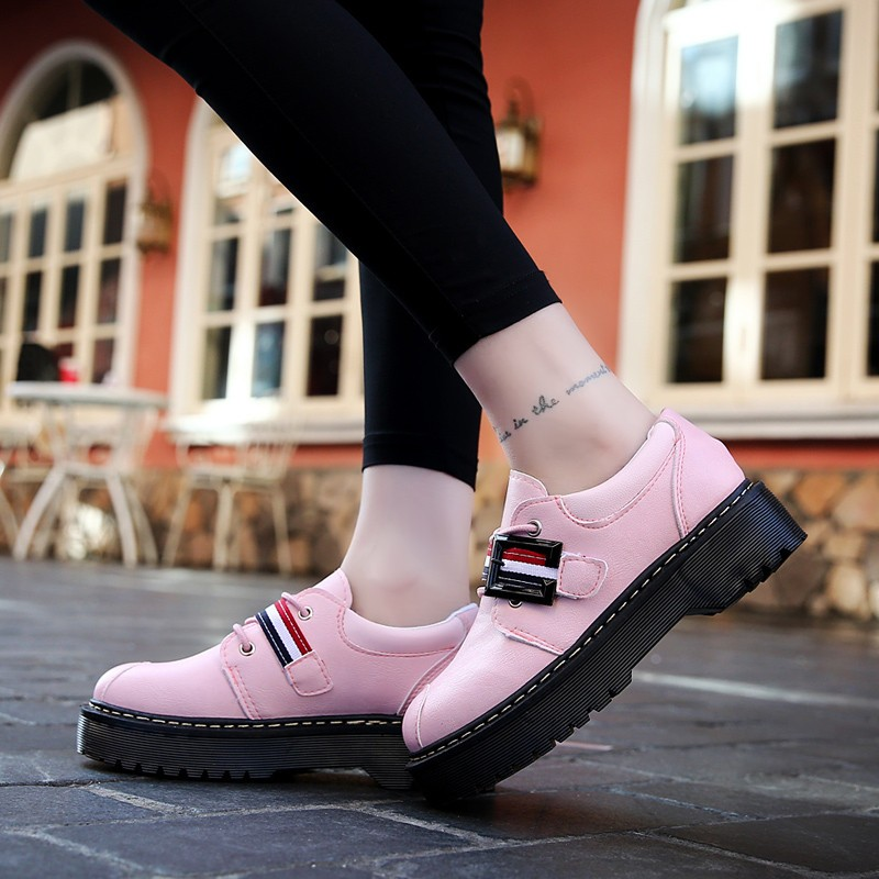 2017 Spring Autumn Platform Women Shoes Patent Leather Lace Up Shoes For Woman Casual Shoes Ladies Flats Zapatos Mujer S151 (24)
