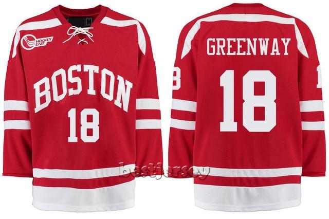 41aef81bb Kowell Customized Boston University 18 Jordan Greenway Stitched Hockey  Jersey