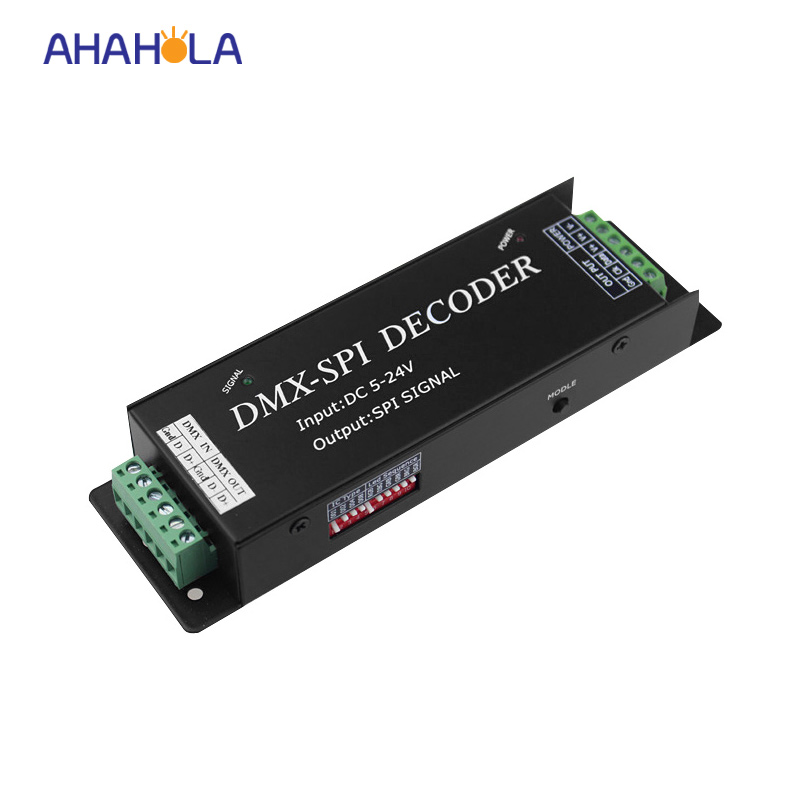 Lpd6803 Ws2801 Ws2811 Ws2812b Dmx 512 Decoder For Digital Strip 35 Modes Input Dc 5-24v Output Spi Signal For Rgb Pixel Strip