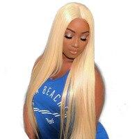 613 блондинка Синтетические волосы на кружеве парик 150% полный конец Синтетические волосы на кружеве натуральные волосы парики для Для женщи