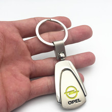 FDIK Car Styling Fashion 3D Metal Logo Key Chain Keychain For OPEL Corsa Astra Antara Meriva Brands Emblem