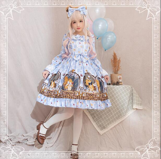 Robe Lolita japonaise imprimé princesse Kawaii robe Lolita quotidienne