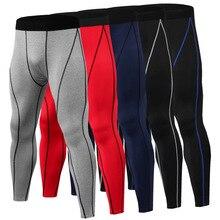 Фитнес мужские колготки для бега высокоэластичные Компрессионные спортивные Леггинсы быстросохнущие штаны длиной до лодыжки носки для тренажёрного зала больших размеров