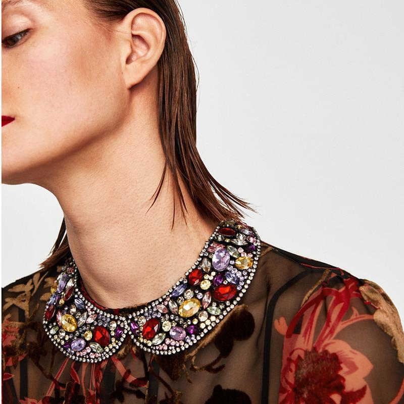 JURAN 2018 nouveau Maxi collier de luxe Chokers collier pour femmes mode collier Bijoux de mode de mariage déclaration collier Bijoux