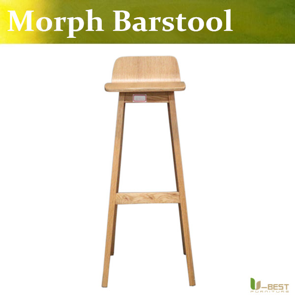 Free shipping U-BEST light wood Formstelle Morph Bar Stool,Morph wooden seat ,coffee shop high bar chair,modern room furniture фонарик beyblade бейблейд morph lite цвет синий