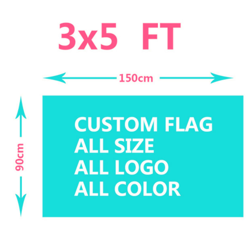 3x5FT Custom Flags 100D Polyester 150X90cm Custom Design Customize lgbt Flags And Banners All Logos All Colors All Sizes