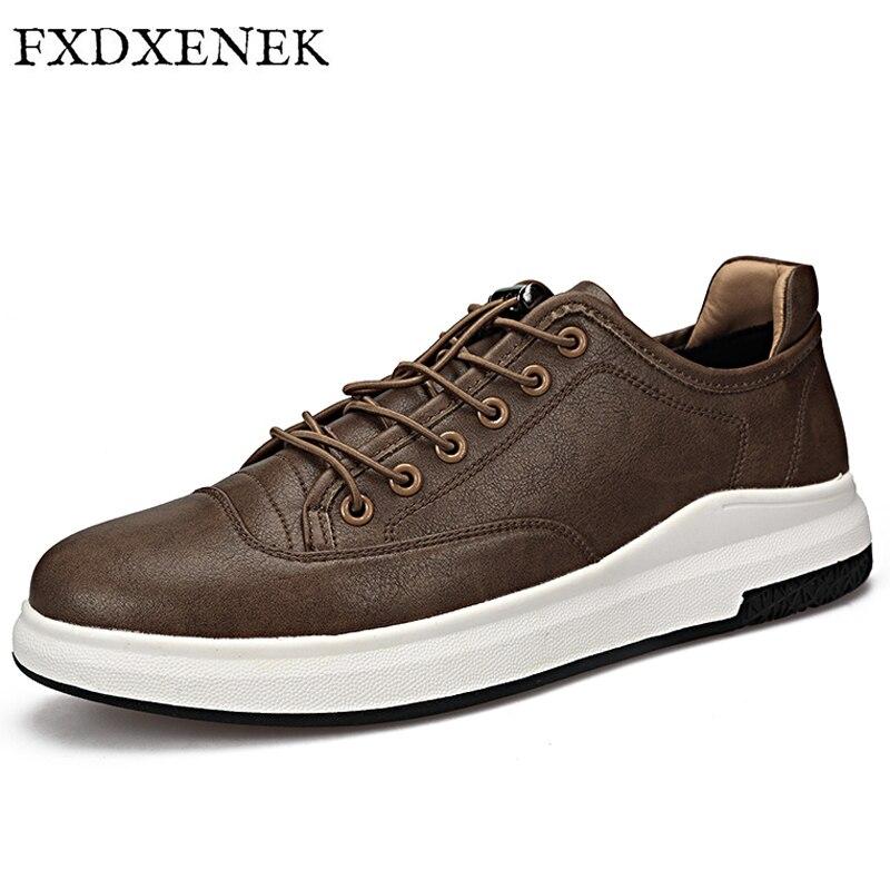 FXDXENEK Men Shoes Handmade Microfibe Leather Men Casual Shoes Fashion Designer Lace up Men Leather Shoes Winter Men Flats Shoes beko rcnk356e21w