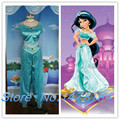Aladdin Princess Jasmine Cosplay Costume Adult Children Kids Halloween Custom made costume New S-XXL Free shipping