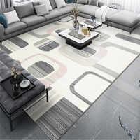 Новый геометрический абстрактный ковер для гостиной, Скандинавский современный минималистичный напольный коврик, светильник, Роскошный д...