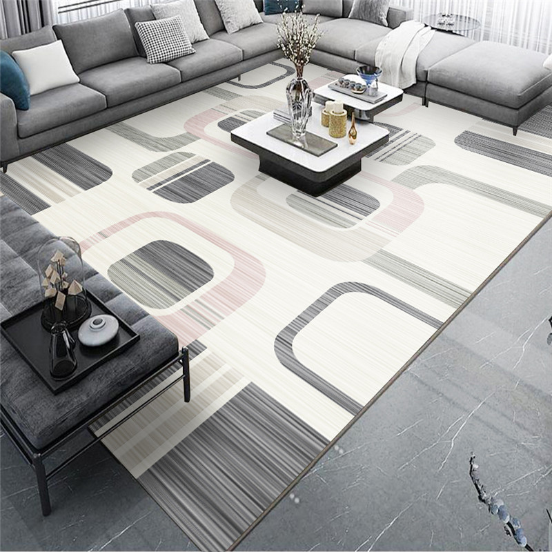 New Arrival Geometric Abstract Living Room Carpet Nordic Modern Minimalist Floor Mat Light Luxury Home European Coffee Table Rug