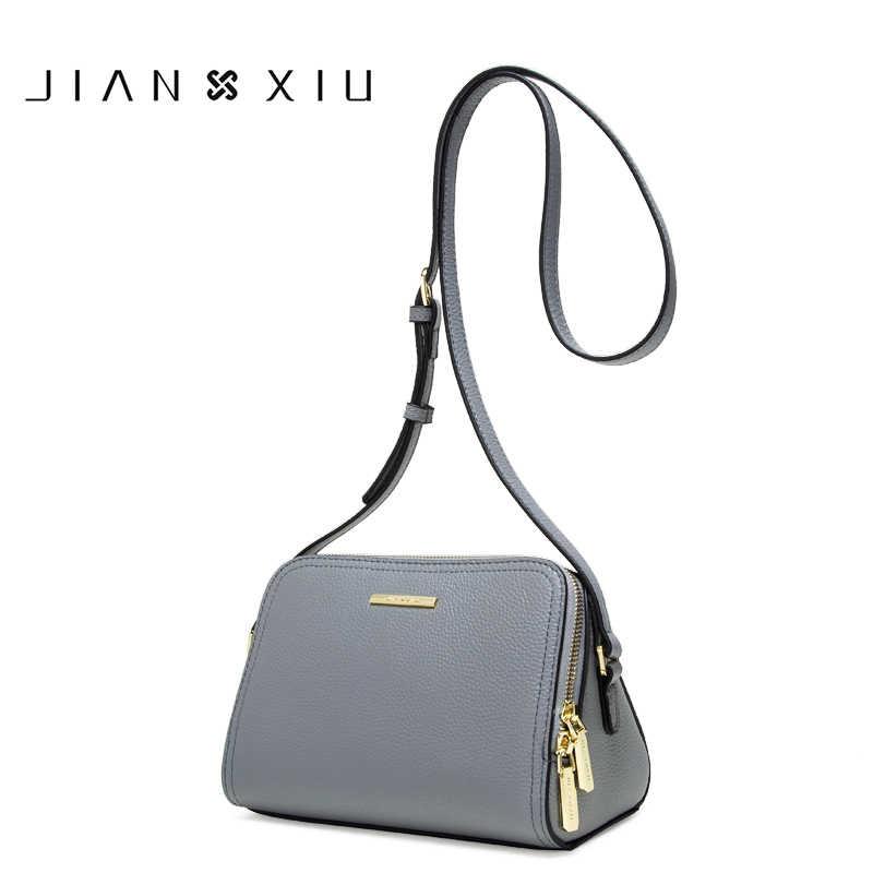 1e65c6e0f0b0 JIANXIU женская сумка из натуральной кожи женская сумка через плечо сумки  для женщин кошелек Личи Текстура
