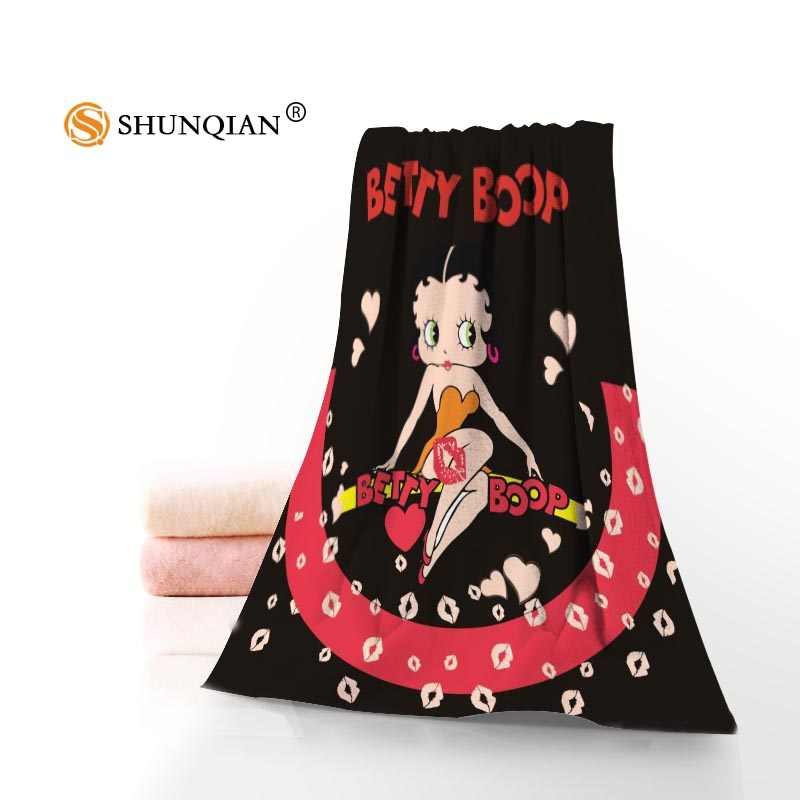 New Custom Betty Boop Towel Printed Cotton Face/Bath Towels Microfiber Fabric For Kids Men Women Shower Towels A8.8