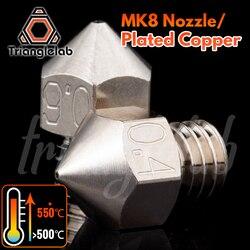Trianglelab MK8 Banhado Bocal de Cobre Durável não-stick de alta performance M6 Thread para 3D hotend impressoras para CR10 ENDER3