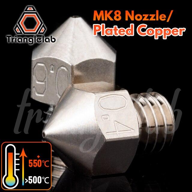 Trianglelab MK8 Überzogene Kupfer Düse Langlebig nicht stick hohe leistung M6 Gewinde für 3D drucker für CR10 hotend ENDER3