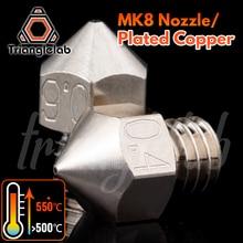 Trianglelab embout en cuivre plaqué MK8, fil haute performance M6, Durable, antiadhésif pour imprimantes 3D, pour CR10, hotend ENDER3