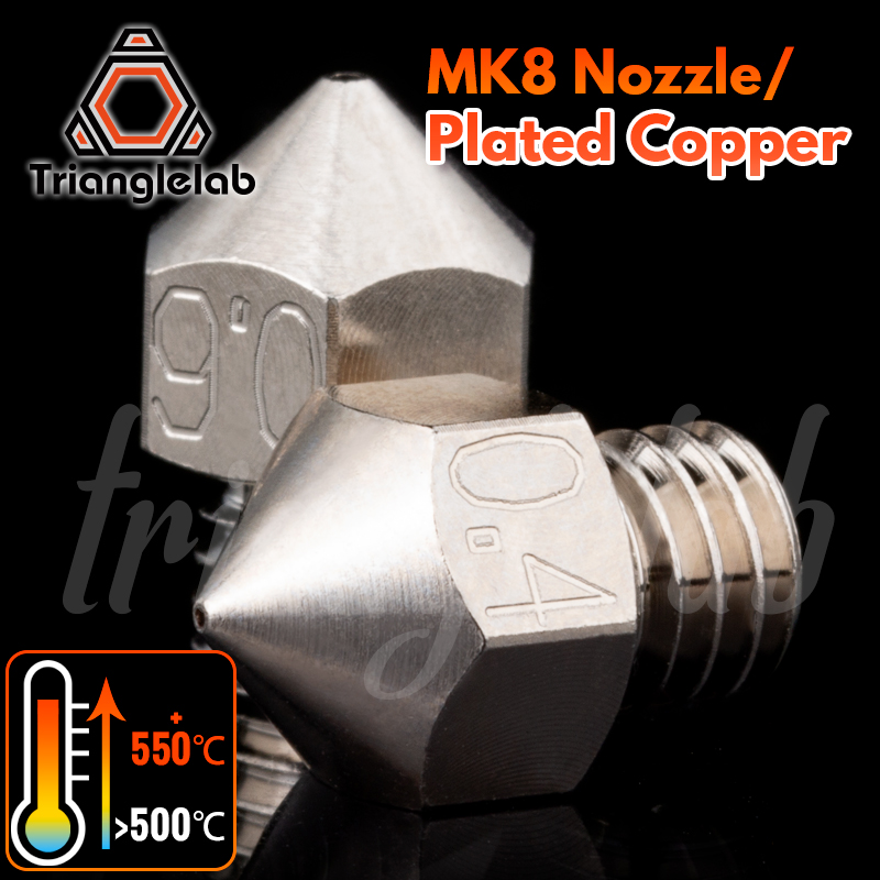 trianglelab MK8 Plated Copper Nozzle Durable non-stick high performance M6 Thread for 3D printers for CR10 hotend ENDER3