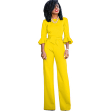 new womens sexy jumpsuit fashion solid color bandage yellow blue red green black