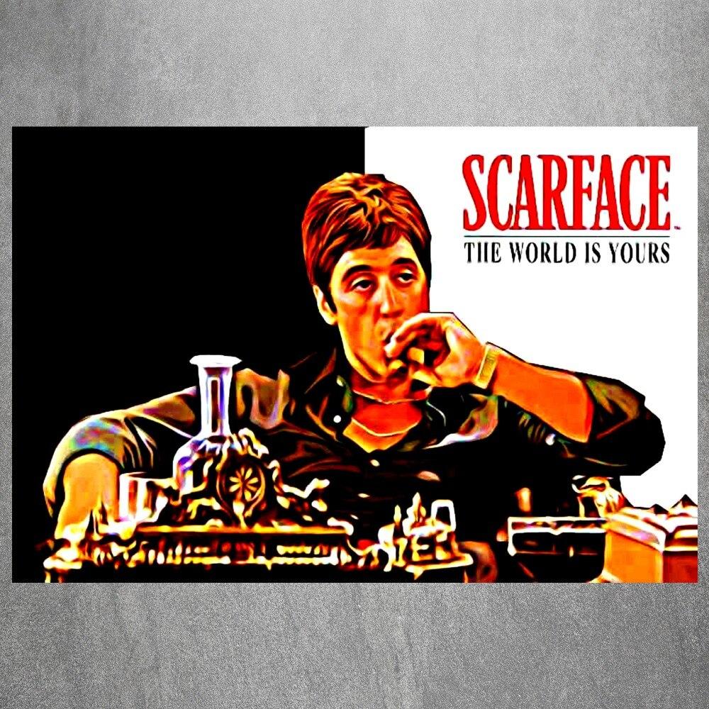 Ihre Welt Scarface Vintage Kunst Malerei Leinwand Poster Wand dekor ...