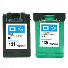 Для hp картридж 131 135 картридж с чернилами для hp deskjet 460 5743 5940 5943 6843 6940 Photosmart 2573 2613 8753 PSC1600 1613 2350