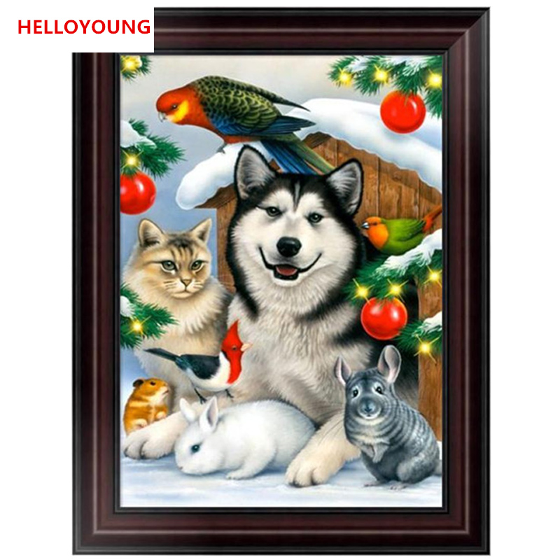 DIY 5D Partial Diamond Embroidery Christmas Animals Diamond Painting Cross Stitch Kits Diamond Mosaic Home Decoration