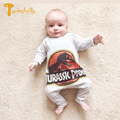 TWINSBELLA Newborn Baby Rompers 2017 Spring New Infant Boys Long Sleeve Cartoon Dinosaur Jumpsuit Autumn Baby Cotton Romper