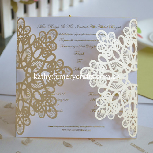 Aliexpresscom Buy Pop up wedding invitation card laser cut
