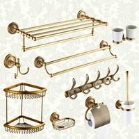 European Antique Copper Pendant Retro Carved 7/9 Items Russian Express Bathroom Accessories
