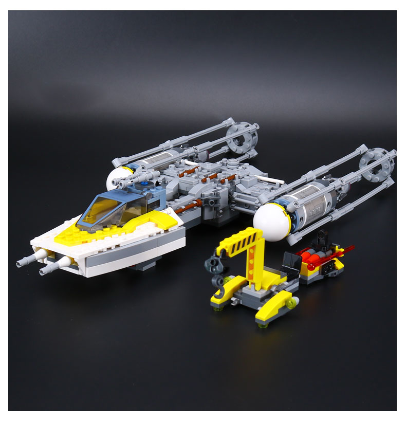 Lepin 05065 691Pcs Genuine Star War Series The Y wing Starfighter Set Model Building Blocks Bricks Educational Toys Gifts 75172 lepin 05040 y attack starfighter wing building block assembled brick star series war toys compatible with 10134 educational gift