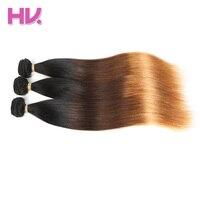 Cheveux Villa Ombre Péruvienne Vierge Cheveux Raides 1 Pc Ombre Humains Faisceaux de cheveux pour Salon Faible Ratio Plus Longs Cheveux PCT 15% 1B/4/30