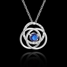 High Quality cheap Woman Silver Necklace Jewelry Gem Zircon N593