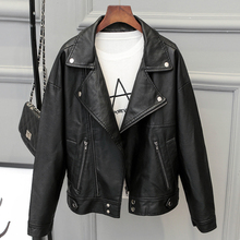 Hot Fashion 2017 Women Motorcycle Leather Jackets and Coats Short Casual Women PU Jackets Biker Leather Outwear New Arrival C388