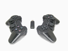 2.4Ghz wireless computer game controller PC gamepad with dual vibration dual joysticks for Windows XP Win 7 Win 8 Win 10 2pcs