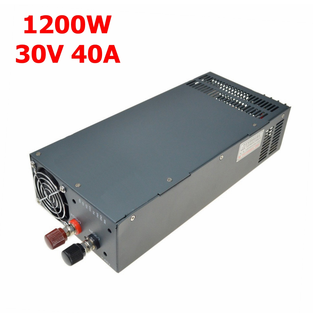 AC 220V Input to DC Regulated Power Supply 1200W 30V(0-33V) 40A adjustable output Switching power supply Transformer solar power on grid tie mini 300w inverter with mppt funciton dc 10 8 30v input to ac output no extra shipping fee