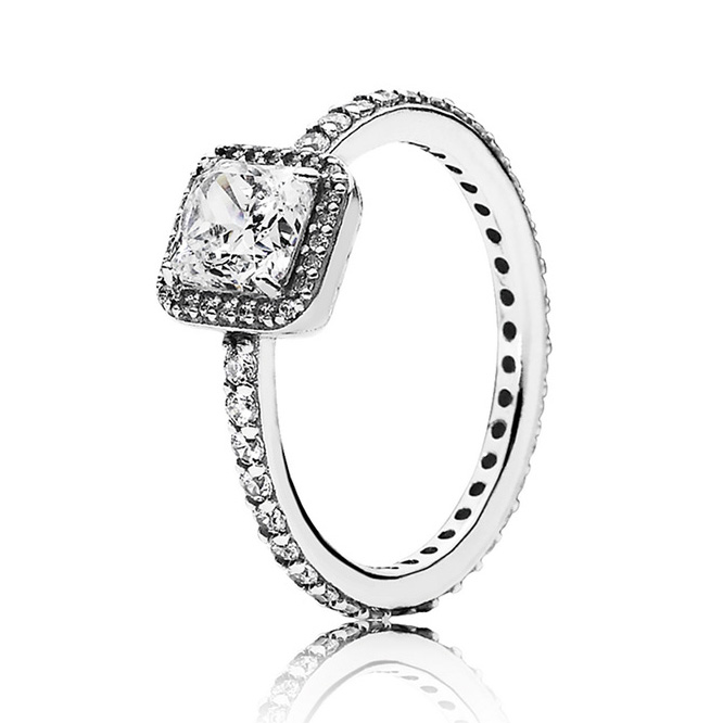 925-Sterling-Silver Ring Jewelry Crystal-Rings Wedding-Gift Elegance Authentic Timeless