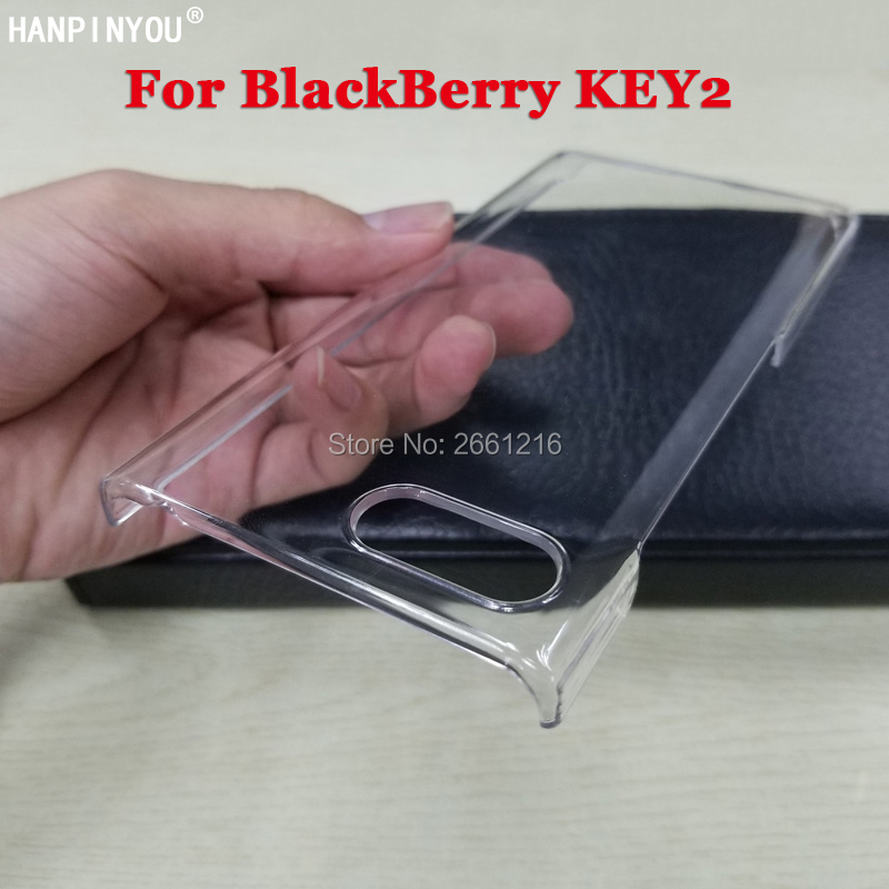 """For BlackBerry Key2 Hard PC DIY Case Ultra Thin Clear Plastic Cover Protective Skin For BlackBerry KEYtwo Key 2 Two Athena 4.5""""(China)"""