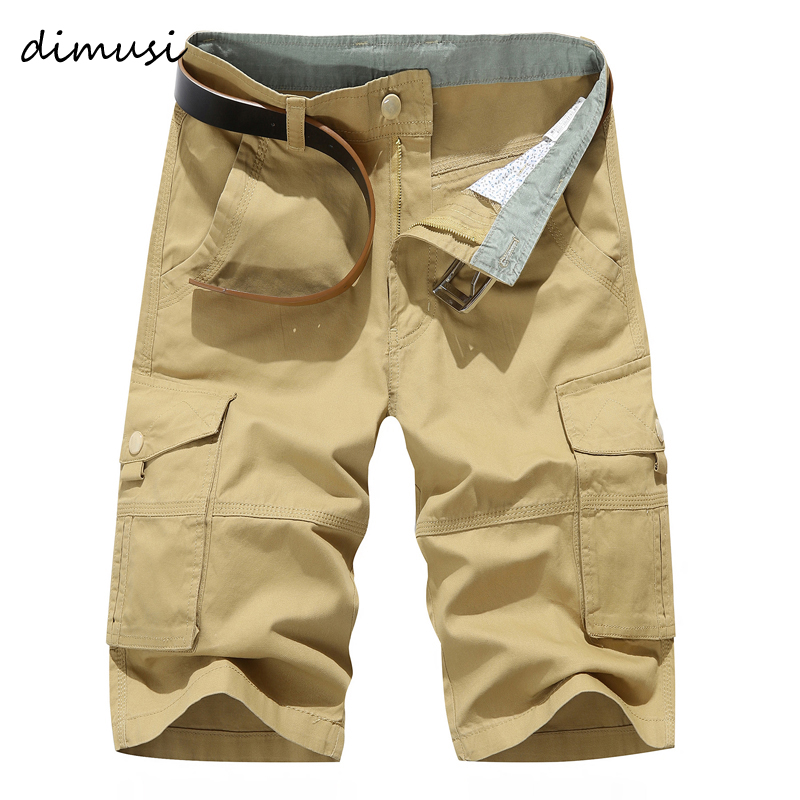 DIMSUI Mens Military Cargo Shorts Summer Army Green Cotton Shorts men Loose Multi-Pocket Shorts Homme Casual Bermuda Trousers 40
