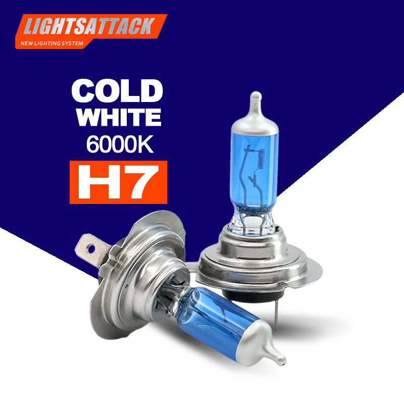 PEGASUS Car Halogen Headligh H7 1500lm Auto Bulb Headlamp 6000K