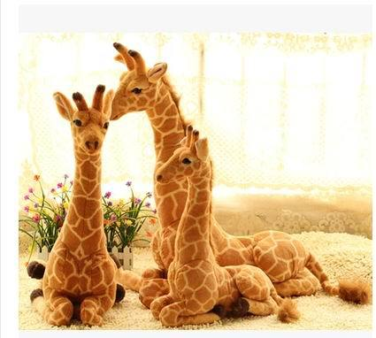 Free shipping Artificial animal giraffe plush toy doll supplies home accessories Large 55cm.70cm.85cm.for choose